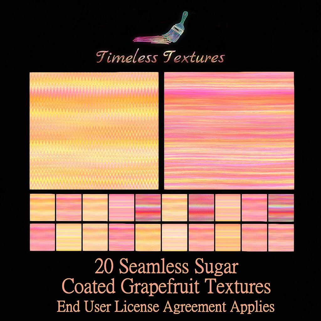 2020 Advent Gift Dec 11th - 20 Seamless Sugar Coated Grapefruit Timeless Textures