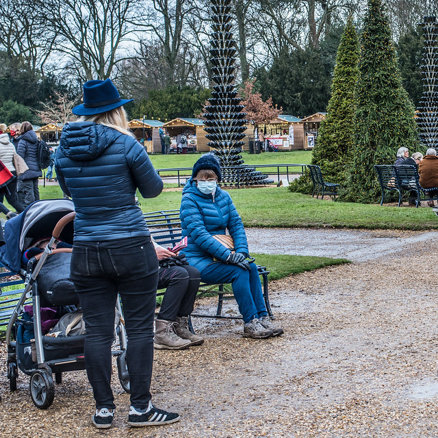 In front of Waddesdon Manor