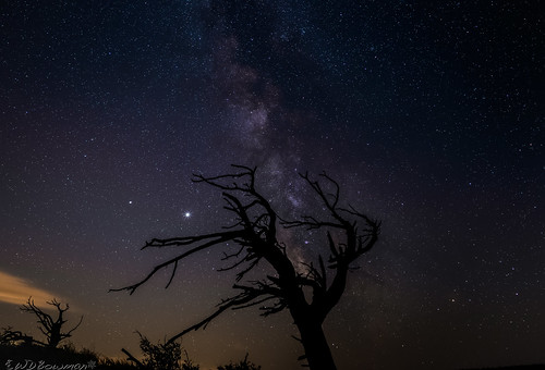 saturn jupiter milkyway grassytop smokeysky nightsky stars