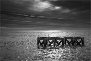 Seascape with structures, Eastney Point, Portsmouth, Hampshire1054_017 line