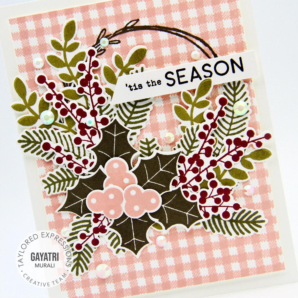 Tis the Season card cloeup