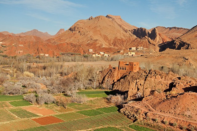 Old Kasbah Ruins and Fields