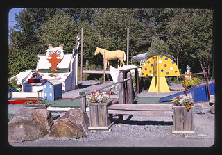 Overall view, Over the Rainbow Mini-Golf, Old Forge, New York, Old Forge, New York (LOC)