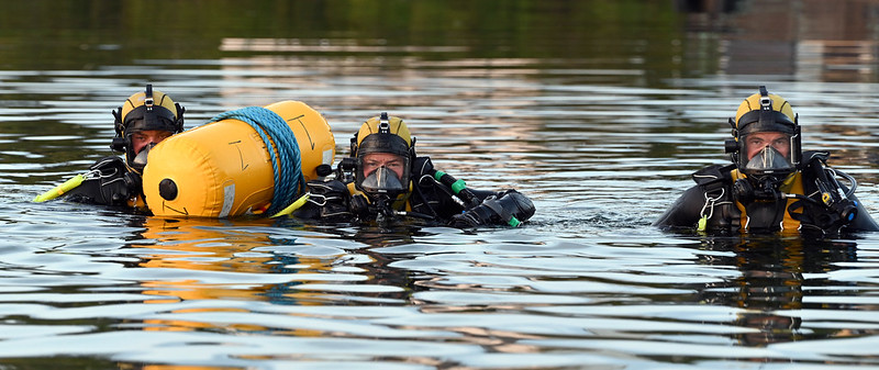Navy divers in training at Haulbowline Photo: Davy Jones/Óglaigh na hÉireann