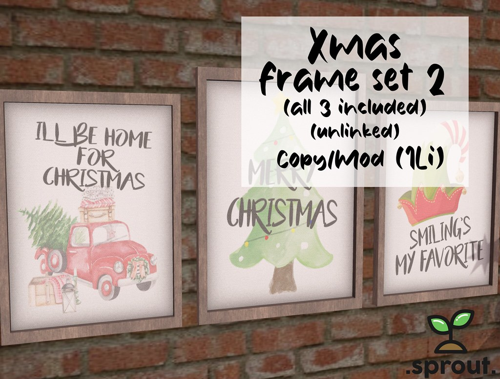 .sprout. xmas frame set 2