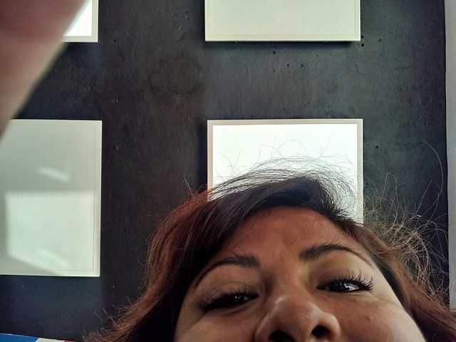 She couldn't find a screen protector to fit my OnePlus but did take an accidental selfie.