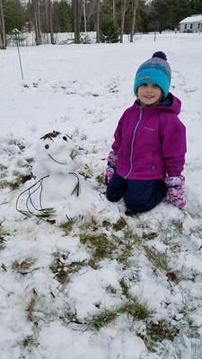 a small snowman