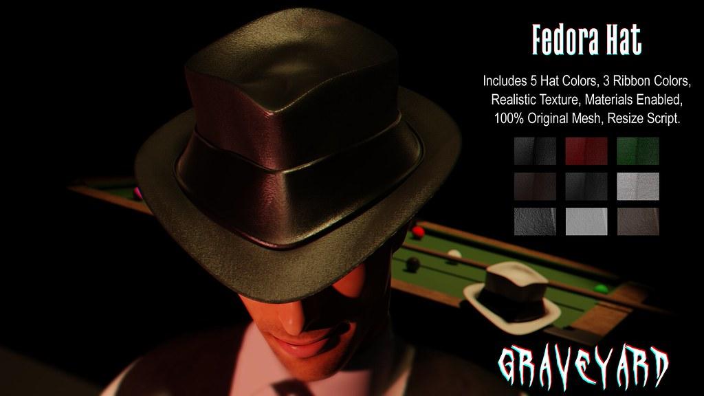 [ GRAVEYARD ] Fedora Hat