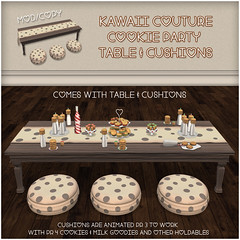 Kawaii Couture - Cookie Party Table and Cookie Cushion Set Ad