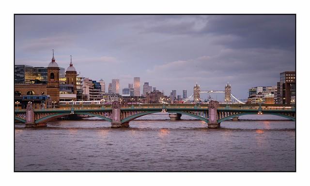Twilight Over Southwark Bridge …