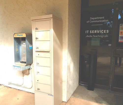 Abandoned Pay Phone at Entrance to Department of Communications - UCSD