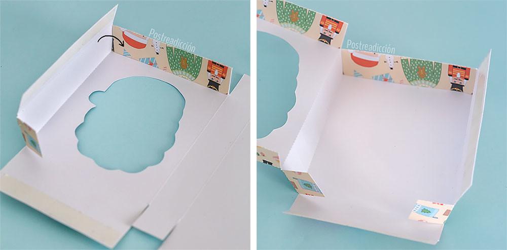 caja imprimible gratuita navidad