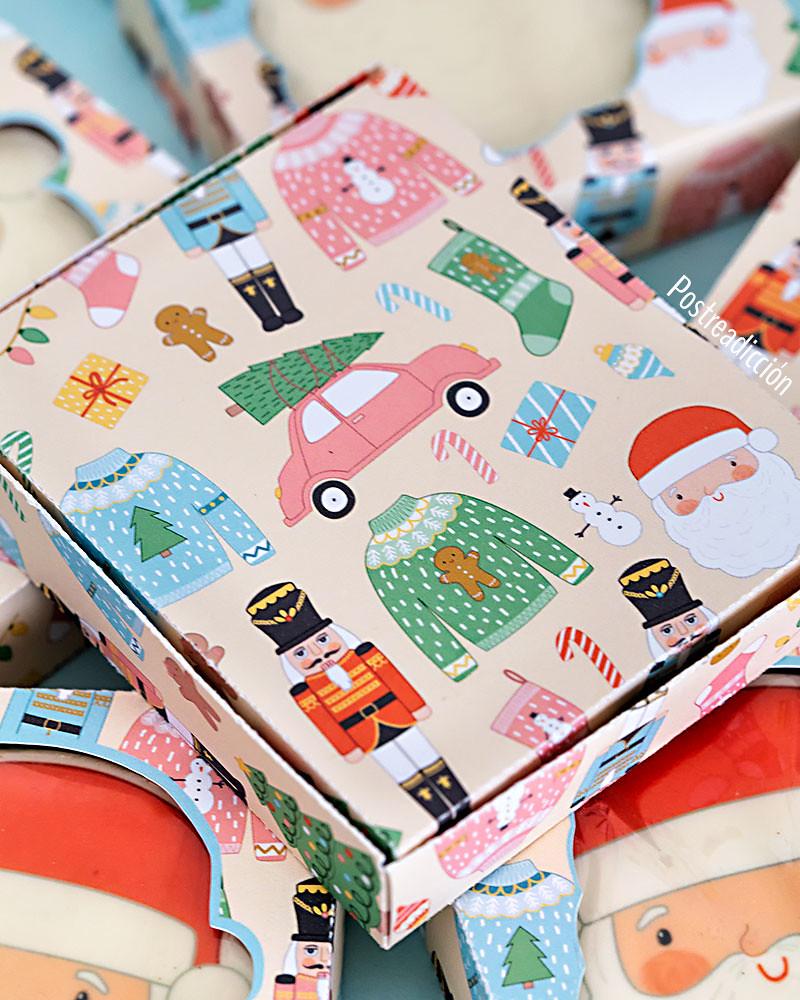 imprimible gratuito caja navidad