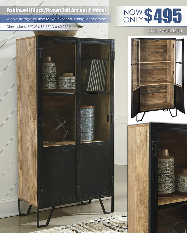 Gabinwell Black Brown Tall Accent Cabinet_A4000213