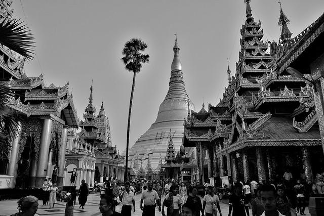 Myanmar/ Burma, Yangon,. Die prächtigste Pagode - der Shwedagon, religiöses Zentrum des Landes , 78069/13233