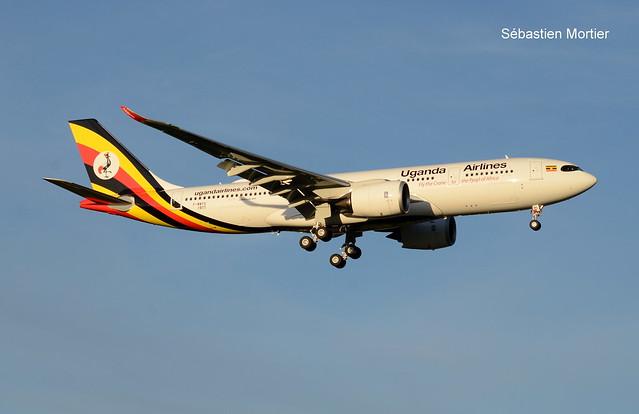 330.841 NEO UGANDA AIRLINES F-WWYS 1977 TO 5X-NIL 17 11 20 TLS