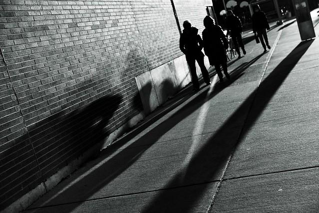 Shadows Along the Wall