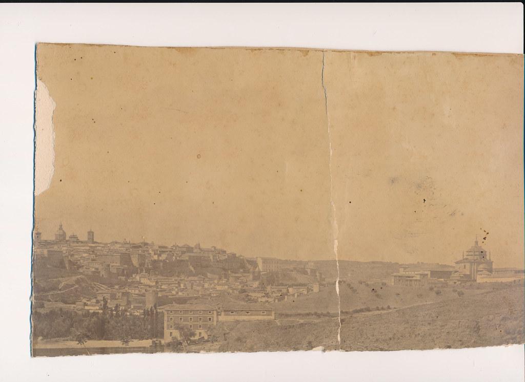 Vista de Toledo hacia 1875. Colección de Eduardo Sánchez Butragueño (fragmento)