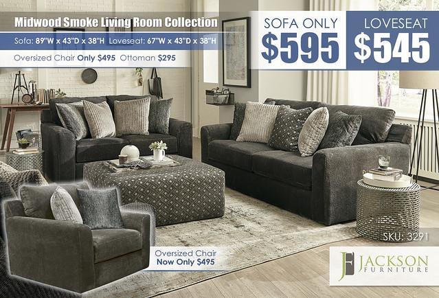 Midwood Smoke Sofa OR Loveseat_3291