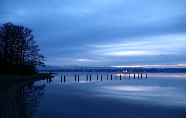 Admiring the blue hour