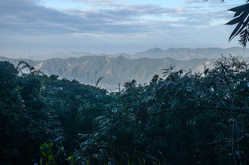 五指寮林道(H 1085 m)西南望群山 (2)