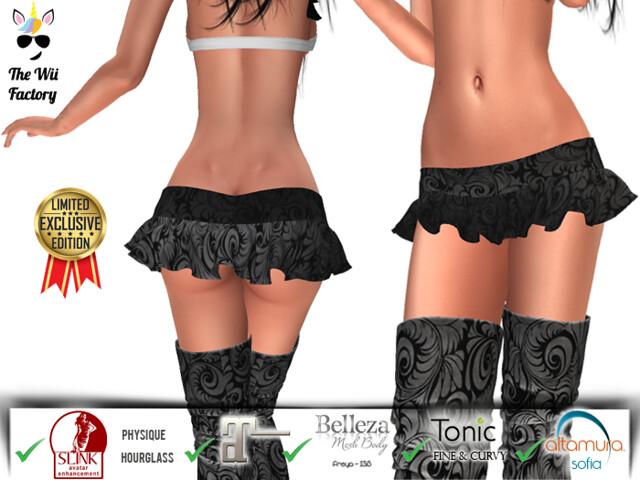 TWF: Elegant  Mini Skirt