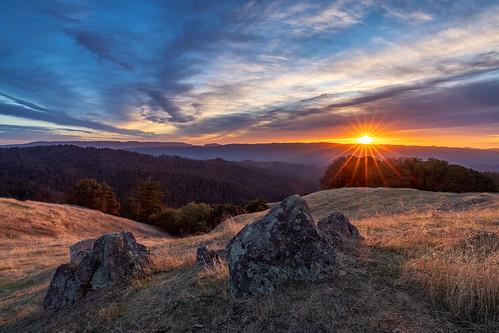 california longridge longridgeopenspacepreserve midpeninsularegionalopenspacedistrict santacruzmountains usa unitedstates landscape sunset
