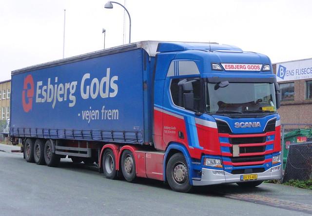 Esbjerg Gods Next Generation Scania R520 v8 BV55401