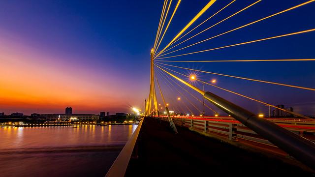 Rama VIII Bridge @ Night
