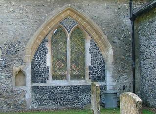 blocked transept chapel entrance