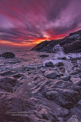 coast coastal maine ogunquit marginalway clouds sky cloudscape cloudporn sunrise rocks waves water