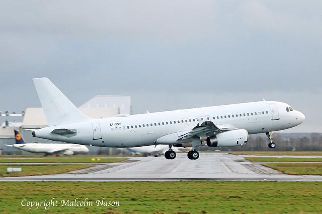 A320-232 EI-GSV ex YU-APG all white