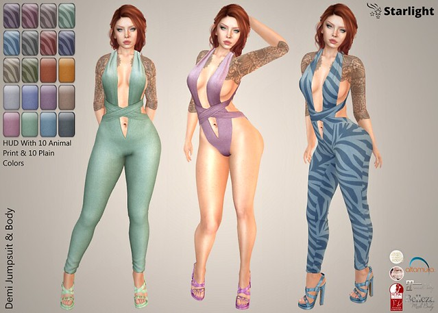:: SA :: Demi – Jumpsuit / Body with HUD – Animal & Cotton