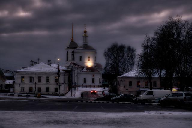 Winter evening in Borovsk