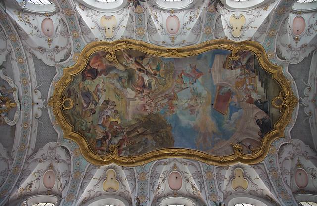 Ceiling fresco of St. Emmeram