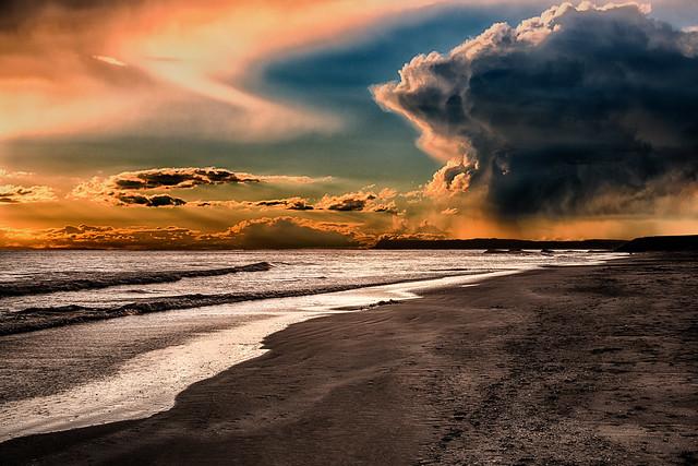 Storm at the beach.....California
