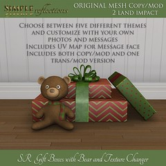 SR Gift Boxes with Bear and Texture Change