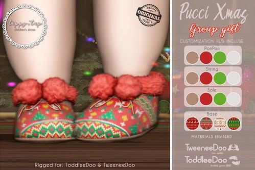 Tippy Tap Pucci XMAS Slipper Group gift (for ToodleeDoo & TweeneeDoo