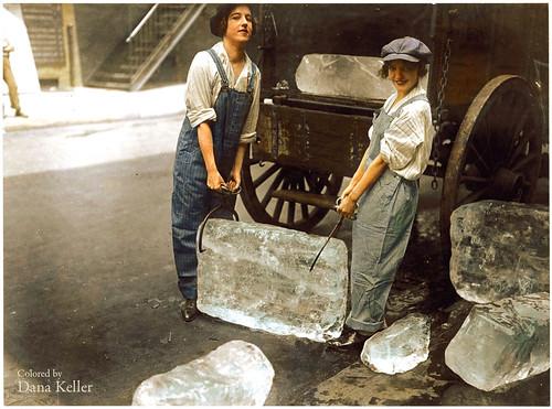 Vendedoras de hielo durante la I Guerra Mundial