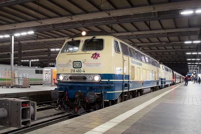 DB FV 218 460 + 218 446 München Hbf