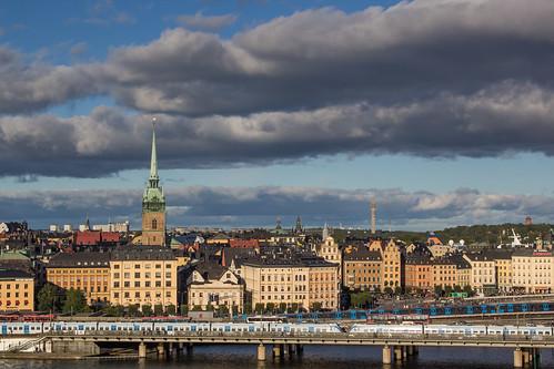sweden stockholm sunset cityscape cloud skyline
