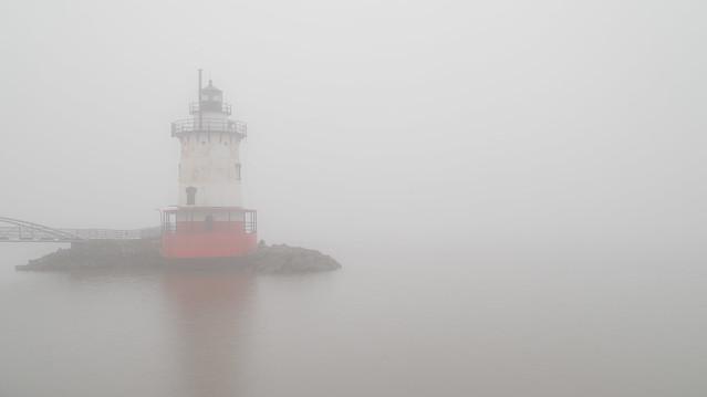 Foggy Day along the Hudson River - Tarrytown Lighthouse in Sleepy Hollow