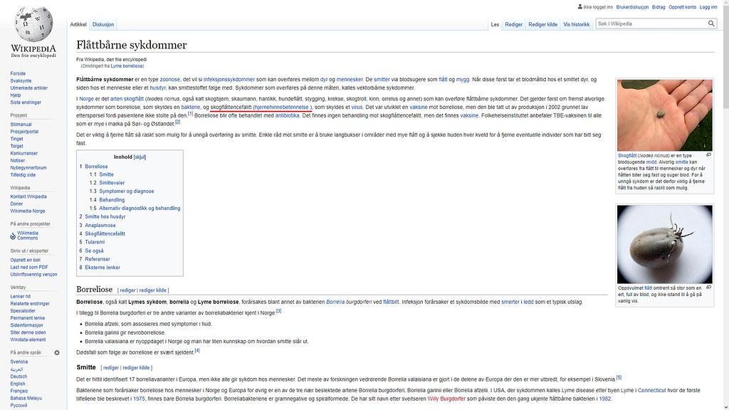 skogflått sykdommer wiki