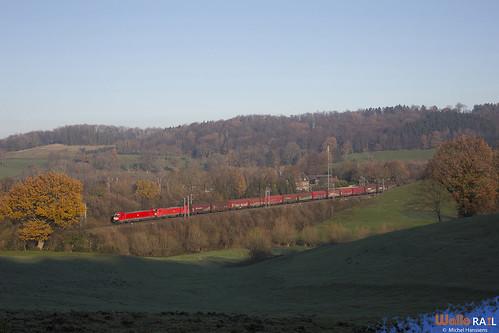 186 337 + 186 xxx . DB Cargo . E 44590 . Gemmenich . 09.12.20.