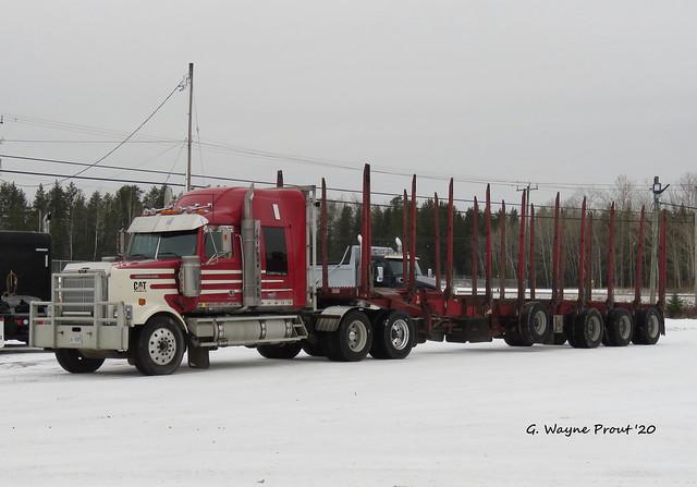 Western Star 4900 SF Logging Truck with Log Trailer