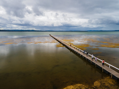 holidays clearskies cloudy australia aerial people newsouthwales clouds coastal rainclouds tuggerahlake nsw scenery ocvercast travel lake scenic afternoon outdoors longjetty coast centralcoast water wharf