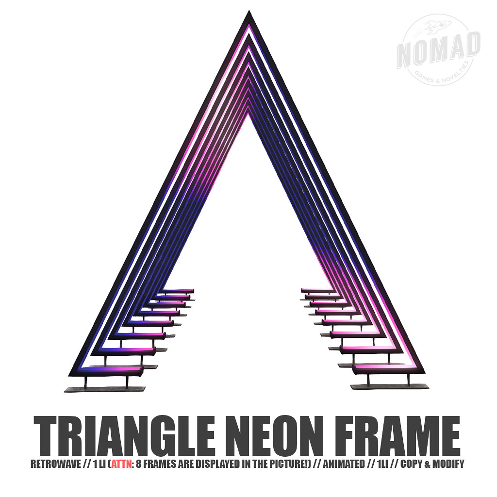 NOMAD // Triangle Neon Frame @ K9