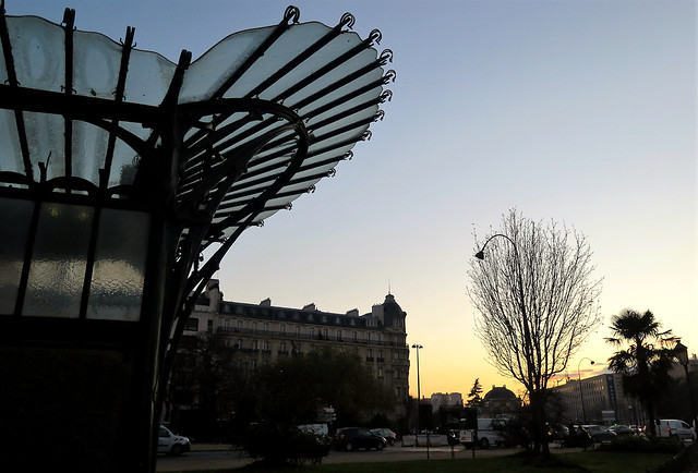 Coucher de soleil, Paris Porte Dauphine