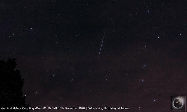 Geminid Meteor 01:56 GMT 13/12/20