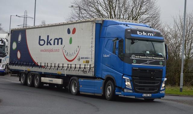 BKM Lojistik 34 BOS 144 (Turkey) On The A5 At Oswestry